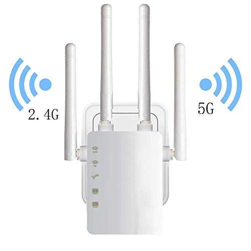 Draadloze wifi-repeater router dual-band antenne 4 WiFi range extender wifi-router, AU plug adapter, C