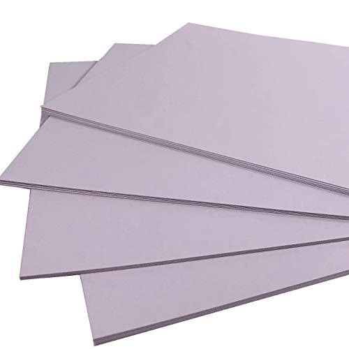 Cartulina fina de color lila para impresión y manualidades, tamaño A3, 160 g, paquete de 20 hojas, apta para impresoras, fotocopiadoras y actividades creativas
