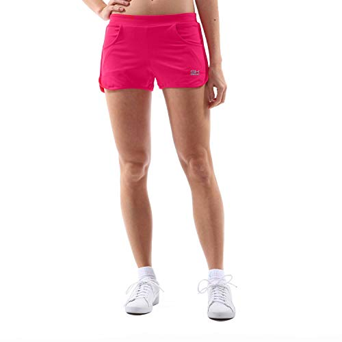Sportkind Mädchen & Damen Tennis, Volleyball, Sport Shorts 2-in-1 mit Innenhose & Taschen, pink, Gr. 164