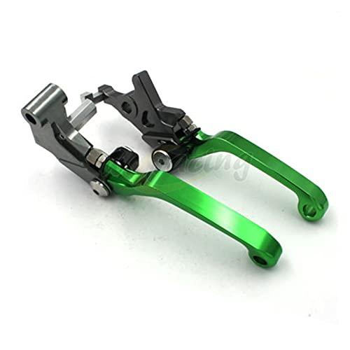 Freno De Motocicleta Palanca De Freno De Embrague Plegable De Motocicleta CNC para Kawasaki KLX125 D-TRACKER125 10-16 KLX150S 09-13 KLX250 08-16 Interruptor Freno Palancas (Color : Verde)