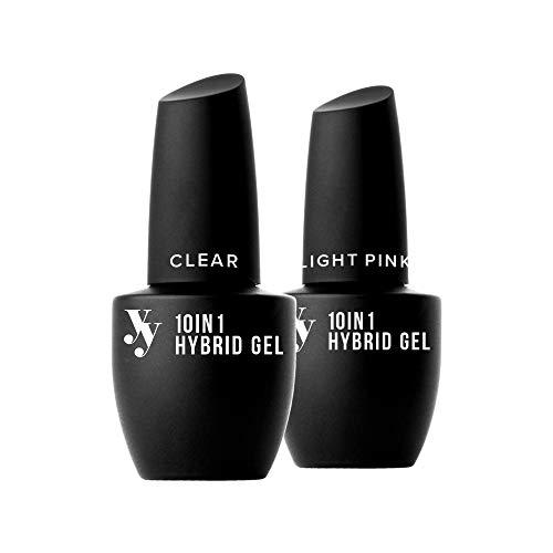 Set 10-en-1 YES!YOU - Inclut les gels hybrides Clear et Light Pink