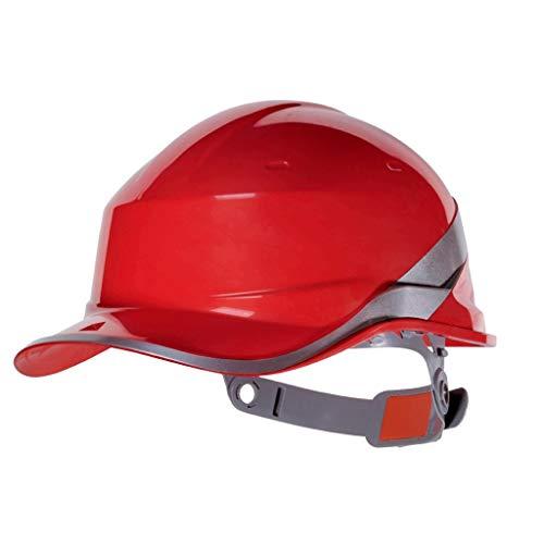 LIAN Schutzhelm mit Schutzhelm, ABS-Baustelle, leichte Schutzkappe (Color : Red)