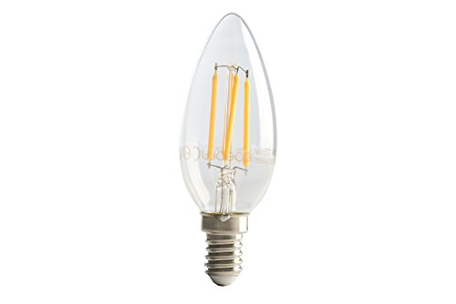 Luceco lc14 W2 °F25-le Kunststof Filament Kaars 2 W E14 LED Lamp Wit