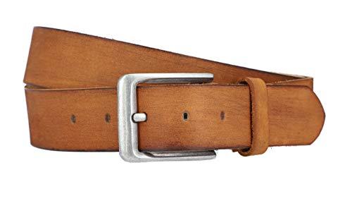 Gusti Gürtel Leder - Kristan schlichter Ledergürtel mit goldener Schnalle Accessoires Damen 130 cm Braun Leder