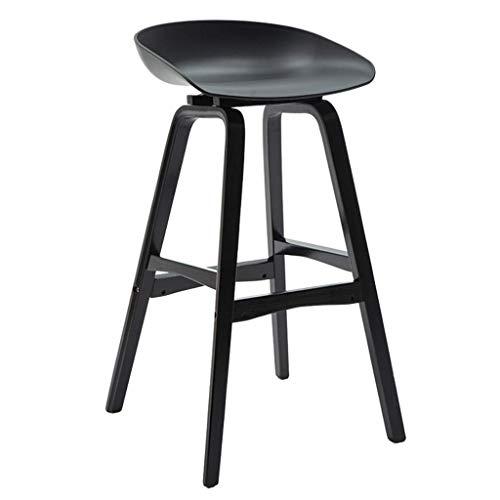 Bar Höhe Barhocker Mode Einfache Barhocker Mode Kreative Barhocker Stehtisch und Stuhl Rezeption Hoher Hocker (Color : Black)