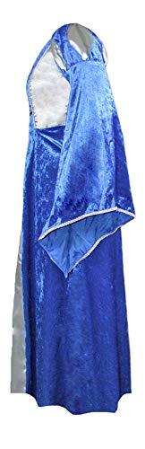 Burgfräulein Prinzessin Helena Blau Silber Gr. 140 - 7