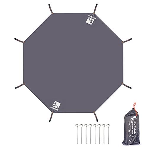 グランドシート テントシート 六角 レジャーシート 防水 軽量 タープ テントマット ヘキサゴン ワンポールテント用 レジャー用のシート 収納バッグ付き ペグ付き (八角 L(350×385cm))