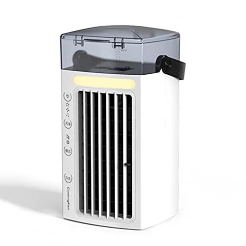 Taowan Ventilador de refrigeración de aire portátil USB Mini ventilador de refrigeración de escritorio con 7 colores LED luz 3 velocidad circulación de aire para el hogar