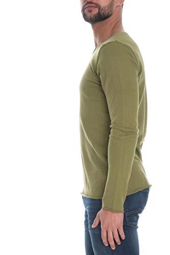 Imperial Maglia Pullover Girocollo Uomo Verde Baccello
