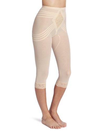 Rago Women's Capri Pant Liner - Shaper, Beige, Large (30)
