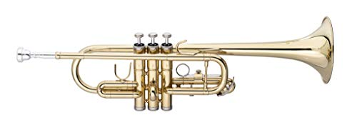 Stagg 21062 C-Trompete (Nylontasche, verstellbare dritte Handytasche Ring, Glocke: 125 mm, Bohrung: 11,7 mm)