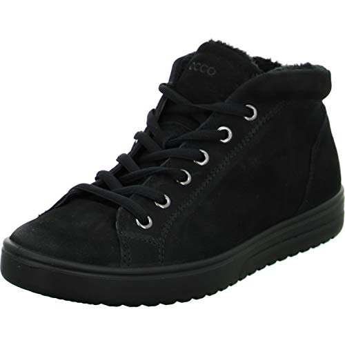ECCO Damen FARA Hohe Sneaker, Schwarz (Black), 43 EU