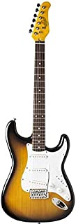 Oscar Schmidt 6 String Double Cutaway 3/4 Size Electric Guitar. Tobacco Sunburst, Right (OS-30-TS-A)