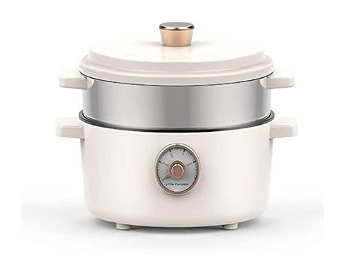 X-LSWAB Elektro-Multi-Herd 2 L Slow Cooker mit 3 Heizstufen und Warmhaltefunktion Kleine Bratpfanne Hot Pot Suppentopf Gedämpfte Gitter geeignet for Dampf-Koch-Eintopf (Color : S)