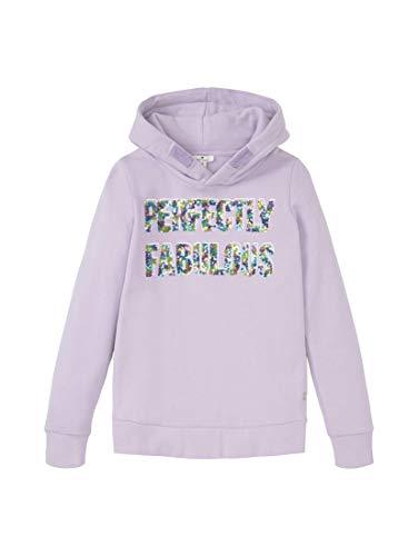 TOM TAILOR Mädchen Strick & Sweatshirts Hoodie mit Print Pastel Lilac|Purple,140