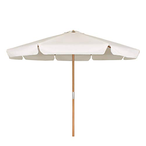 Sekey® Sonneschirm 300 cm Holz-Sonnenschirm Marktschirm Gartenschirm Terrassenschirm Rund UV50+