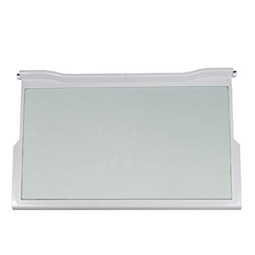 Bauknecht Whirlpool 481245088134 ORIGINAL Ablage Regal Lebensmittelfach Glasboden Platte 474x290x32mm Kühlschrank Kühlautomat Kühlgerät Gefrierschrank Kühl-Gefrier-Kombination auch Ignis Philips Ikea