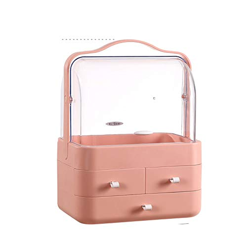 XUMINGSNH cosmeticadoos, stofdicht, acryl-opbergbox voor het verzorgen van de huid, draagbaar, buiten