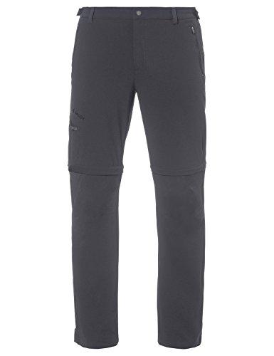 VAUDE, Farley Stretch T-Zip Pants II, Pantalone Lungo, Uomo, Grigio (Iron), 50