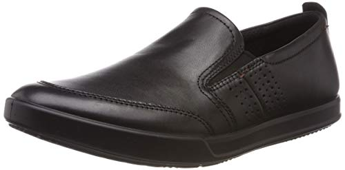 Ecco Herren COLLIN2.0 Slip On Sneaker, Schwarz (Black 1001), 42 EU