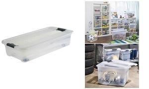 OKT Aufbewahrungsbox Kristall-Box, mit Rollen, 33 Liter