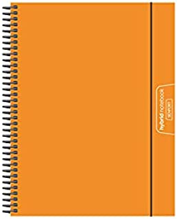 Senfort Cover Polypropylene Unicolor A4 120 Sheets 4 Colours Paper 90 GRS Notebook with Elastic and Pocket, No. 15 Orange