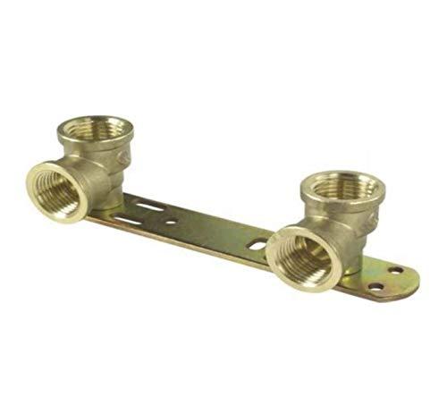Verdeckte Duschhalterung/Länge – 150 mm/Thermostat-Mischbatterie, Rückplatte, BSP-Gewinde, Wasserhahn-Anschluss-Set 1/2 x 1/2 x L 150 Wärmer System PSW Trade Suppliers Ltd.