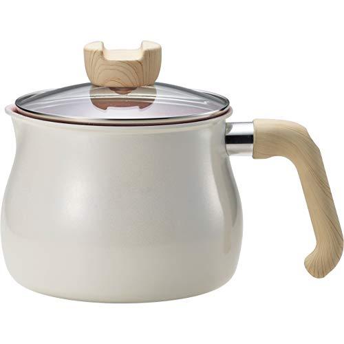 和平フレイズ マルチポット Mサイズ 14cm 2.2L (1~2人用) ホワイト 7つの使い方 煮る 茹でる 沸かす 炊く 炒める 揚げる 和える IH対応 ふっ素樹脂加工 トゥーメイ チャーム To May charm MB-1613