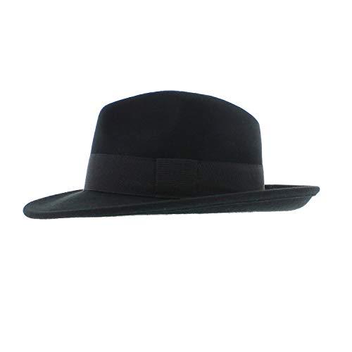 Votrechapeau Smith - Fédora Classique Noir Taille 61