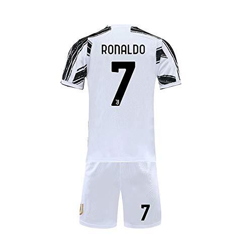 Ronaldo #7 Home Kids/Youth 2020-2021 Season Shirt Shorts White