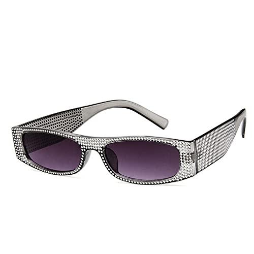 DAIDAICDK Gafas de Sol cuadradas Mujeres Hombres Gafas de Sol con Degradado de Colores Gafas de Viaje para Exteriores Accesorios para automóviles