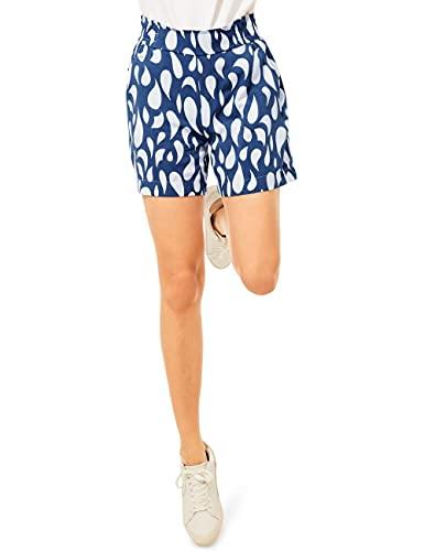Street One Damen Viskose Shorts, Foggy Blue, 38