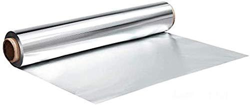 (1er-Pack) Hochwertige Aluminiumfolie BBQ Kochen Aluminiumfolie 34 cm * 20 m zum Kochen Einfrieren Catering Wrapping