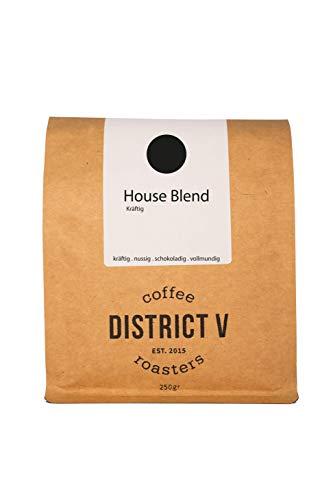 District Five Coffee Roasters, House Blend kräftig Espresso Blend g, Kaffee, 250 g