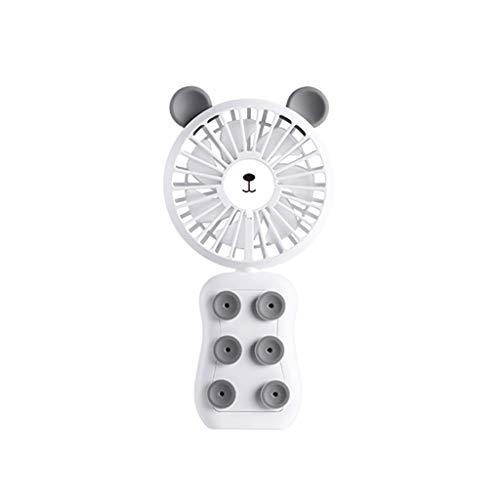 OPAKY Mini tragbarer 3-Gang Handheld USB wiederaufladbarer Luftkühler Rotationslüfter,Perfekter persönlicher Fan, Desktop-Fan