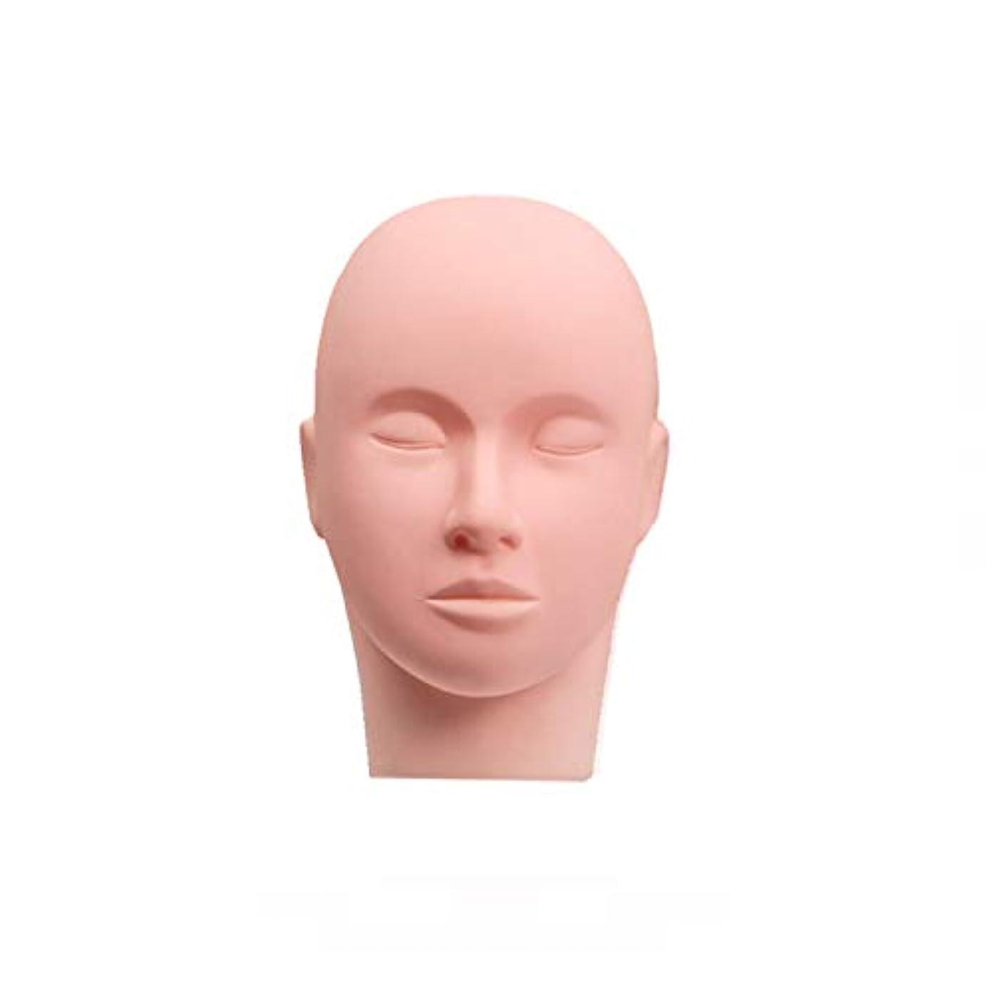 Esthetics Mannequin Head Pro Rubber Practice Training Head Cosmetology Mannequin Doll Face Head for Eyelashes Makeup Practice - Makeup Practice Head