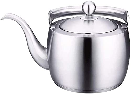 Stainless Steel Whistling Kettle Camping Kettles for Gas with Whistle 1.5L Stove Top Induction Teapot Compact and Durable,Suitable for All Hob Stove Types