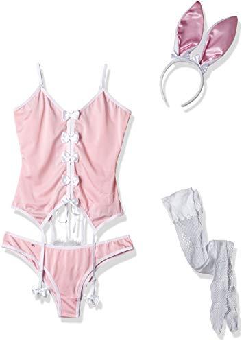 Obsessive Damen De Conejito Traje 4 Piezas Body, Pink (Rosa 005), 38 (Herstellergröße: 40)