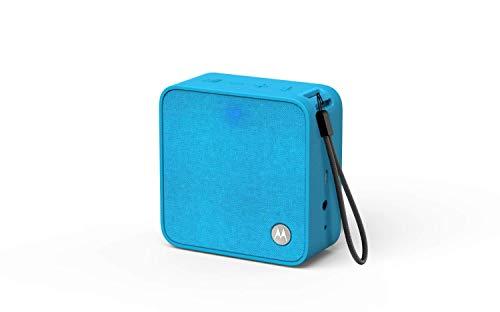 Motorola Sonic Boost210 - Wireless Bluetooth Lautsprecher - 3,5mm AUX, für Smartphone/Tablet/MP3 geräten - Mikrofon für Anrufe/Amazon Alexa/Siri/Google Assistant - Blau