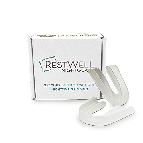 Restwell Dental Nightguard for Teeth Grinding, Bruxing & TMJ Relief, Night Guard, Anti Grinding Teeth Protector (2 Pack)