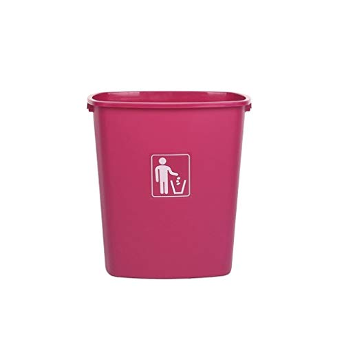 Kjzhu Basura reciclaje Botes de basura del dormitorio, sin cubierta de alta capacidad bote de basura Cuarto de baño Cuarto de Hotel Restaurante Salón papelera 30L-65L organización Cubos de basura