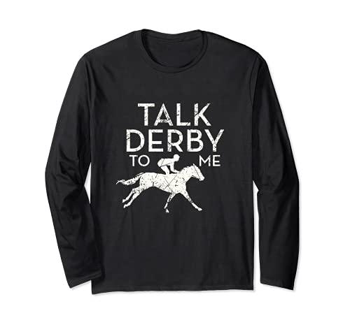 Fun Talk Derby to me Horse Owner Lover Jockey Manga Larga