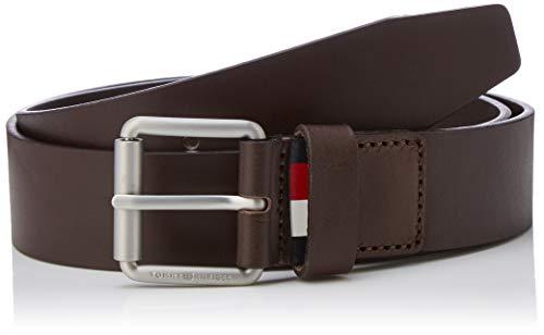 Tommy Hilfiger Downtown Roller Buckle Belt 3.5 Cinturón, Beige (Testa Di Moro 266), 115 (Talla del fabricante: 100) para Hombre