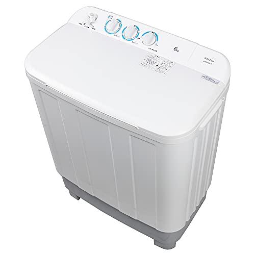 洗濯機 6kg 二層式洗濯機 二槽式洗濯機 一人暮らし コンパクト 引越し 単身赴任 新生活 タイマー 2層式 2槽式 二層式 二槽式 給水切替 小型洗濯機 MAXZEN JW60KS01