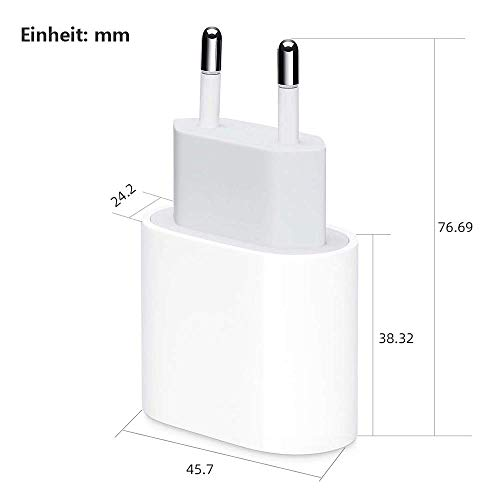 TOYAMI 20W PIQ 3.0 kompaktes Ladegerät, USB C Ladegerät 20W Power Delivery 3.0 USB C Schnellladegerät Netzteil für i Phone 12/12 Mini/12 Pro/12 Pro Max