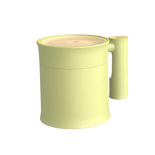 Y-H bambú amarillo 352ML humidificador USB lámpara LED humidificador ventilador humidificador con sonda