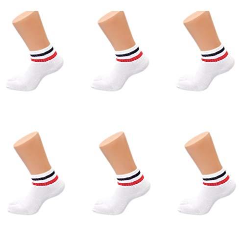 Dedo del pie de los hombres de los deportes de los calcetines cuatro estaciones adecuado for el ocio calcetines del barco calcetines primavera y calcetines otoño de Split dedo del pie calcetines del t