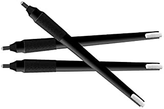 Mellie M Series Microblading Disposable Tools – 10 Piece Pack of 20 Pin U-Shape Brow Microblading Pen – Thin & Sharp Microblading Supplies – Eyebrow Tattoo Pen Blades Sterilized with EO Gas – .15mm