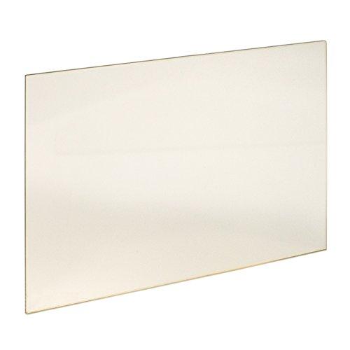 Kaminglas Ofenglas hitzebeständiges Glas bis 800° Ofen Kamin Kaminscheibe, Grundpreis 320,00€/m² (340 x 270 x 4 mm), Auswahl verschiedener Größen, Sondergrößen auf Anfrage