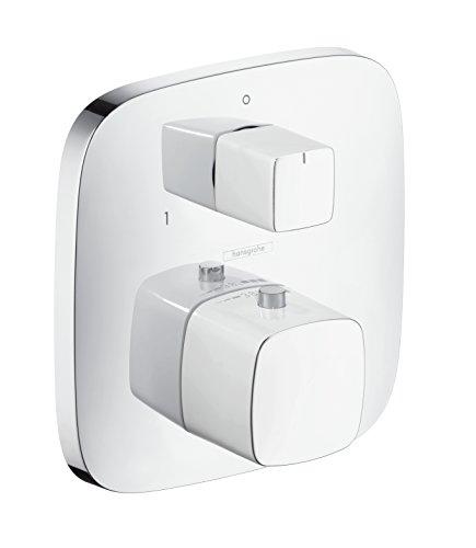 hansgrohe PuraVida Unterputz Thermostat mit Ab- und Umstellventil, für 2 Funktionen, Weiß/Chrom